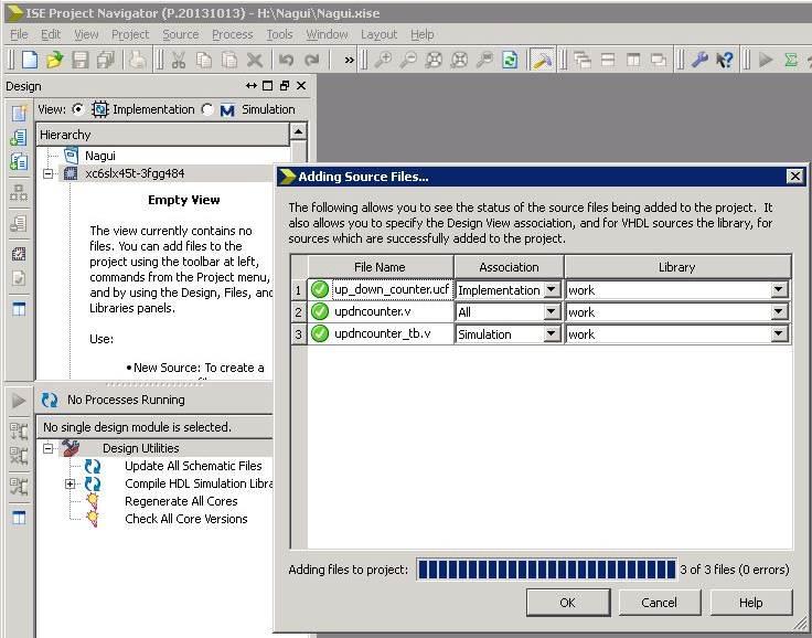 ELEC3500 - Xilinx Project Navigator & ModelSim Tutorial
